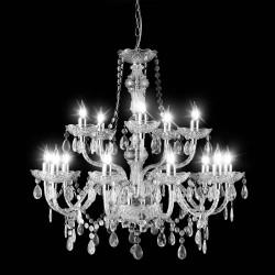 Klar/Sølv Lysekrone - Modern Classic 15