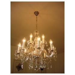 """Crystal Chandelier 12 bulb silver """"Firenze 12"""""""