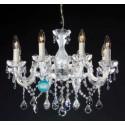 """Silver 8 Bulb Crystal Chandelier """"La Laguna 8"""""""