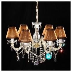 """6 Bulb Crystal Chandelier Gold """"Getafe 6"""""""