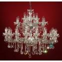 "Silver Crystal Chandelier 28 Bulb ""Ravenna 28"""