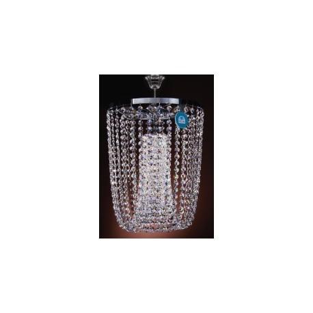 "8 Bulb Chromed Crystal Chandelier ""Poitiers 8"""